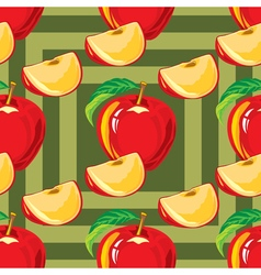 seamless pattern of red apple vector image vector image