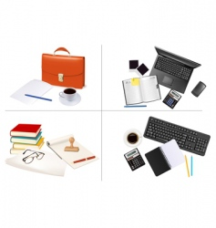 big set of office backgrounds vector image vector image