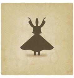 dervish dancer old background vector image vector image