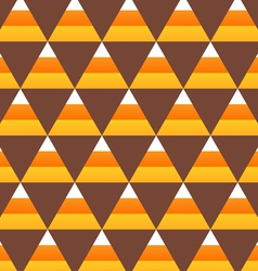 halloween candy corn seamless pattern vector image