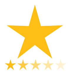 isolated gold and yellow star icons in set vector image vector image