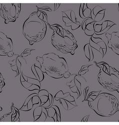 seamless with lemon citrus vector image