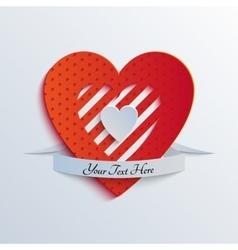 Sliced Paper Heart vector image