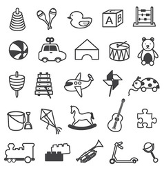 Toys Icons Collection vector image vector image