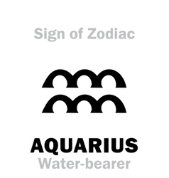 Astrology Sign of Zodiac AQUARIUS The Water-bearer vector image vector image