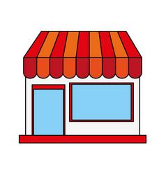 color image cartoon facade shop store vector image vector image