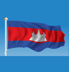 Flag of cambodia vector