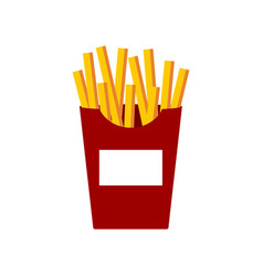 french fries on white background vector image vector image