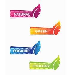leaf shape web banners vector image vector image