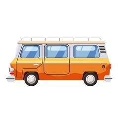 Mini bus icon cartoon style vector image vector image