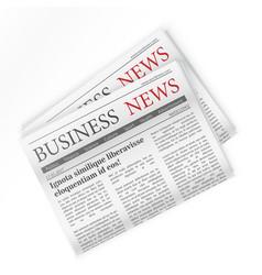 Newspaper Business news Regional newspapers vector image
