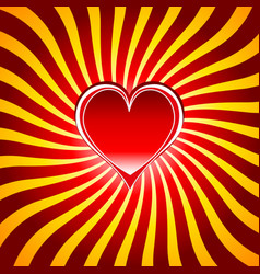 red heart symbols the sign of love and valentines vector image vector image
