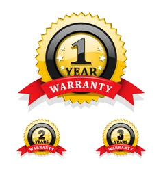 Warranty emblems vector image vector image
