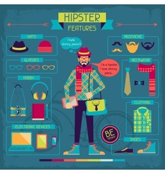 Infographic elements in retro style Hipster vector image