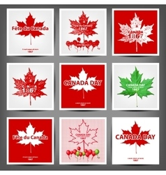 Maple leaf with firework poster for celebrate the vector image