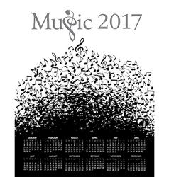Music Typographic 2017 calendar vector image