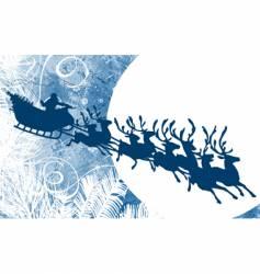 Santa and moon vector image