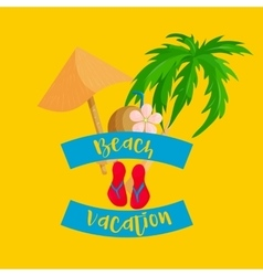 Thailand beach vacation icon flat style vector image