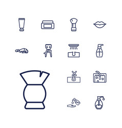 13 skin icons vector