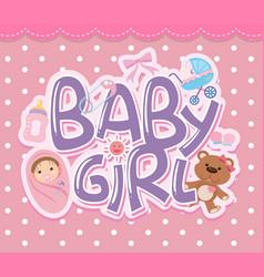 a baby girl logo vector image