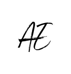 ae letter mark ink brush stroke monogram logo icon vector image