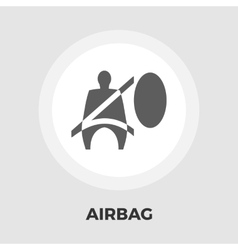 Airbag flat icon vector image
