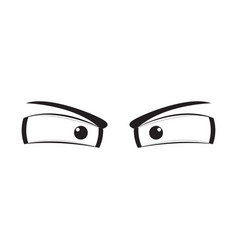 angry eyes cartoon vector image