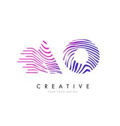 Ao a o zebra lines letter logo design vector