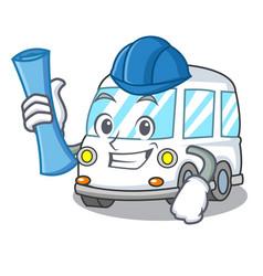 architect ambulance character cartoon style vector image