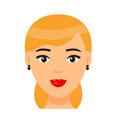 avatar beautiful blonde woman with elegance vector image