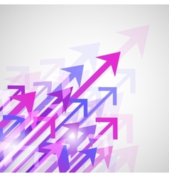 Background arrows print vector image vector image
