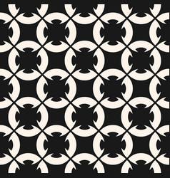 black and white geometric ornament with flower vector image