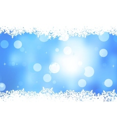Blue background with snowflakes EPS 8 vector image