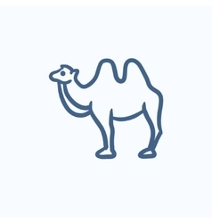 Camel sketch icon vector