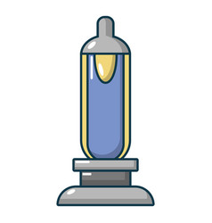 Car spark plug icon cartoon style vector
