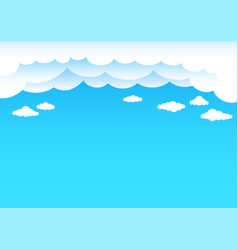 Cartoon clouds and blue sky vector