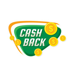 cash back money refound - concept banner il vector image