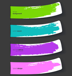 color stickers set vector image
