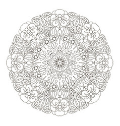 coloring oriental pattern traditional round vector image