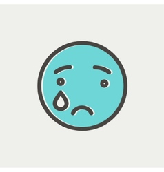 Crying thin line icon vector image