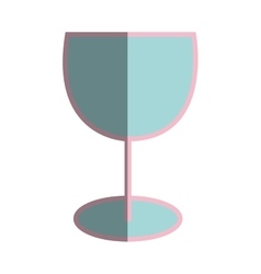 Cup drink flat line icon vector