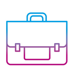 degraded line business briefcase object to save vector image