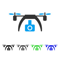 drone video camera flat icon vector image