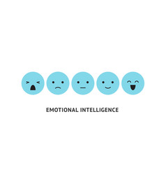 Emotion faces ranking scale blue smiles vector