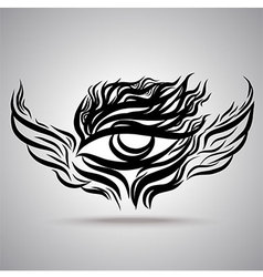 Eye Wing Hand Drawing vector