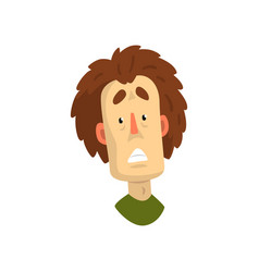 face of shocked or frightened man male emotional vector image