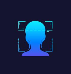 Face recognition facial scan unlock vector