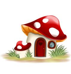 Fantasy mushroom house vector
