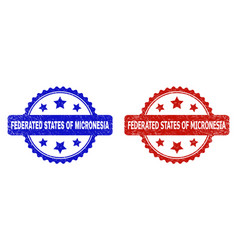 Federated states micronesia rosette watermarks vector