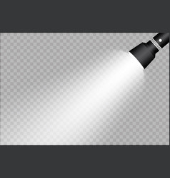 Flashlight on a transparent background vector